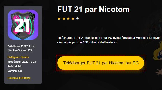 Installer FUT 21 par Nicotom sur PC