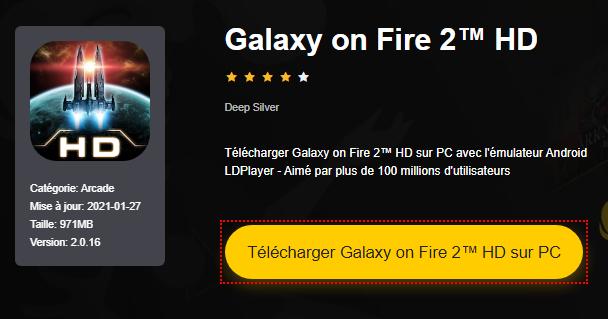 Installer Galaxy on Fire 2™ HD sur PC