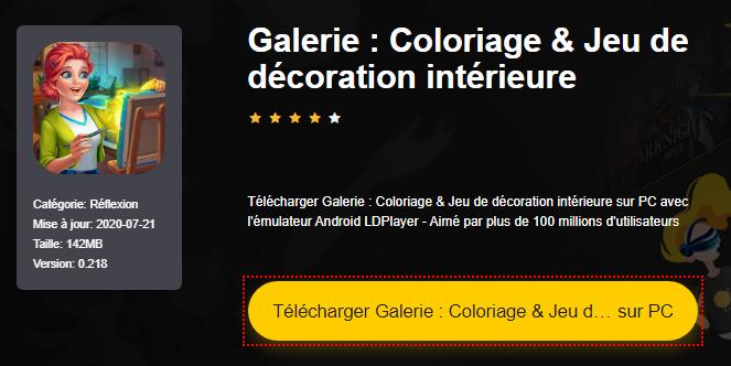 Installer Galerie : Coloriage & Jeu de décoration intérieure sur PC
