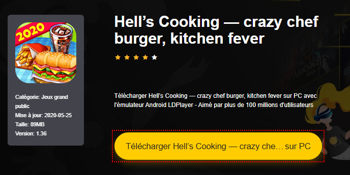Installer Hell's Cooking — crazy chef burger, kitchen fever sur PC