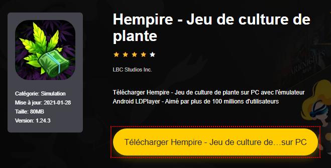 Installer Hempire - Jeu de culture de plante sur PC