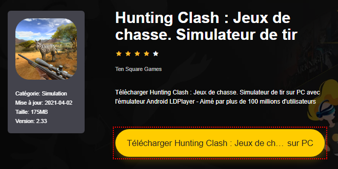 Installer Hunting Clash : Jeux de chasse. Simulateur de tir sur PC