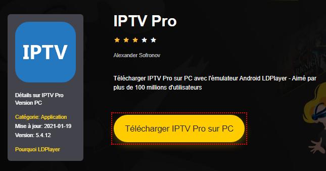 Installer IPTV Pro sur PC