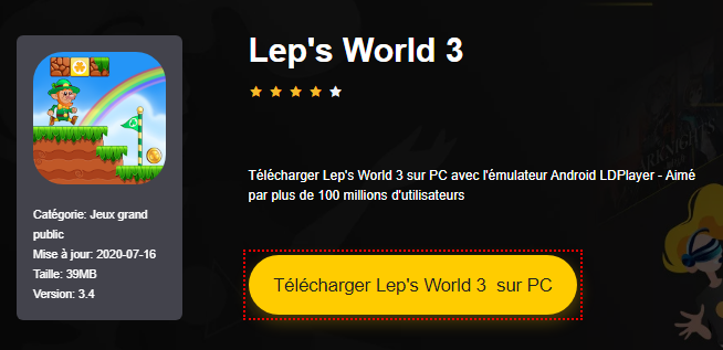Installer Lep's World 3 sur PC
