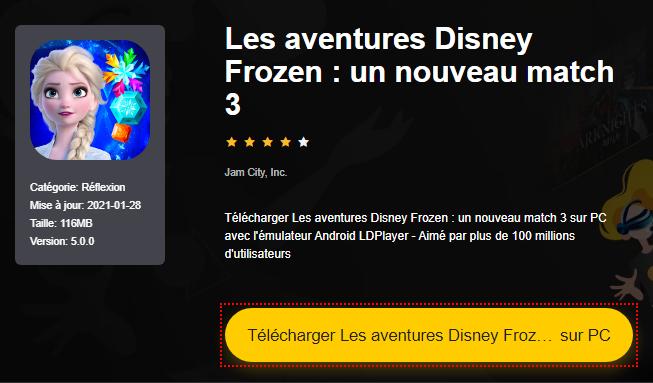 Installer Les aventures Disney Frozen : un nouveau match 3 sur PC