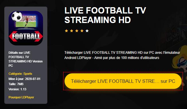 Installer LIVE FOOTBALL TV STREAMING HD sur PC