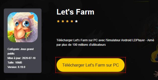 Installer Let's Farm sur PC