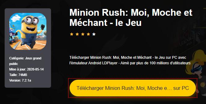 Installer Minion Rush: Moi, Moche et Méchant - le Jeu sur PC