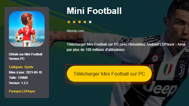 Installer Mini Football sur PC