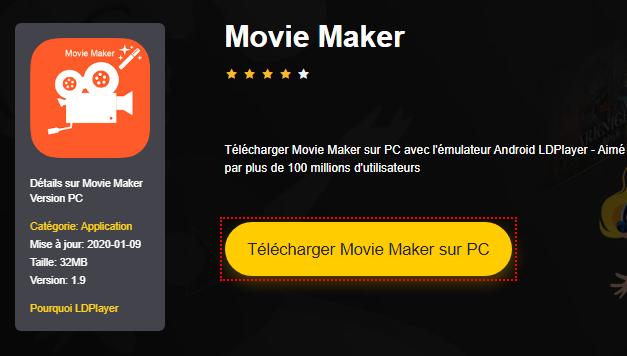 Installer Movie Maker sur PC