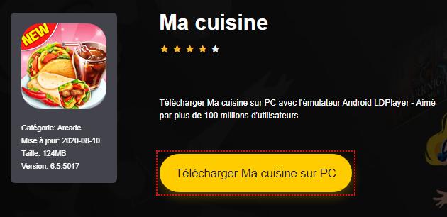 Installer Ma cuisine sur PC