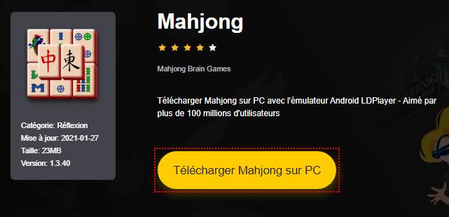 Installer Mahjong sur PC