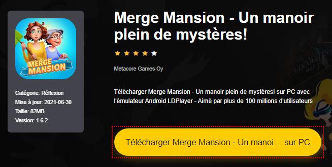 Installer Merge Mansion - Un manoir plein de mystères! sur PC