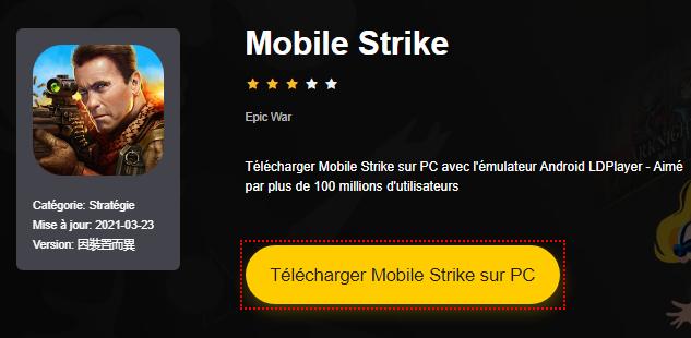 Installer Mobile Strike sur PC