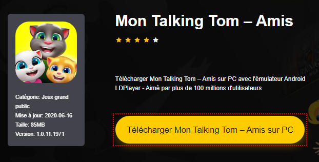 Installer Mon Talking Tom – Amis sur PC