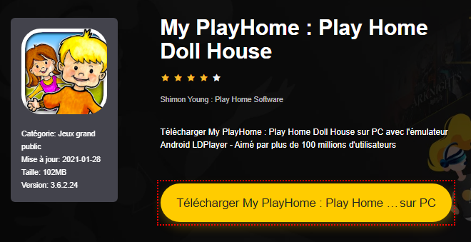 Installer My PlayHome : Play Home Doll House sur PC