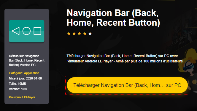 Installer Navigation Bar (Back, Home, Recent Button) sur PC