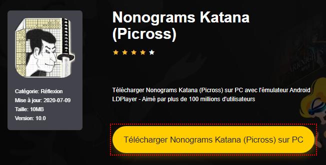 Installer Nonograms Katana (Picross) sur PC
