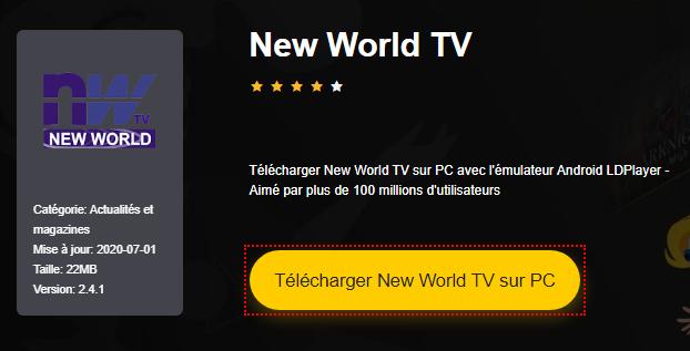 Installer New World TV sur PC
