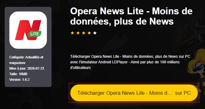 Installer Opera News Lite - Moins de données, plus de News sur PC