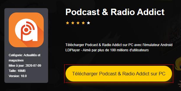 Installer Podcast & Radio Addict sur PC