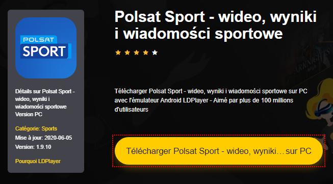 Installer Polsat Sport - wideo, wyniki i wiadomości sportowe sur PC