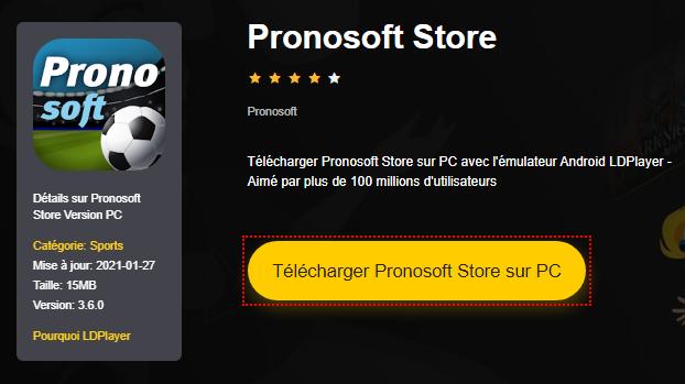 Installer Pronosoft Store sur PC