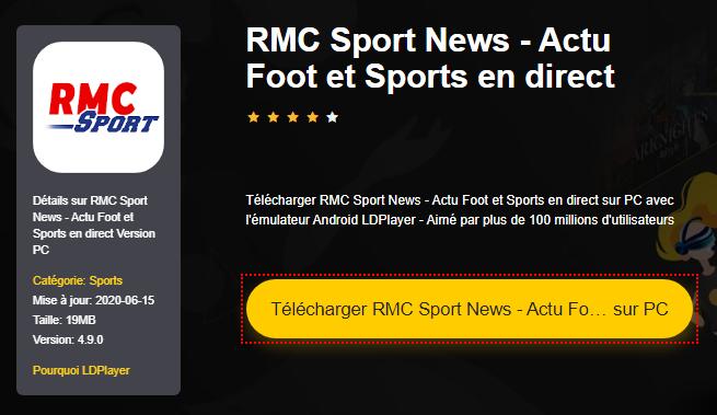 Installer RMC Sport News - Actu Foot et Sports en direct sur PC