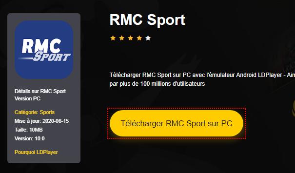 Installer RMC Sport sur PC