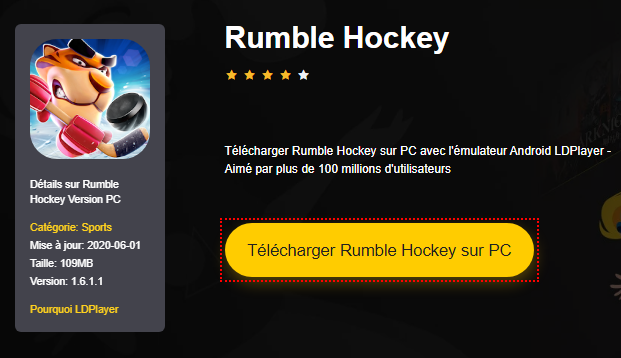 Installer Rumble Hockey sur PC