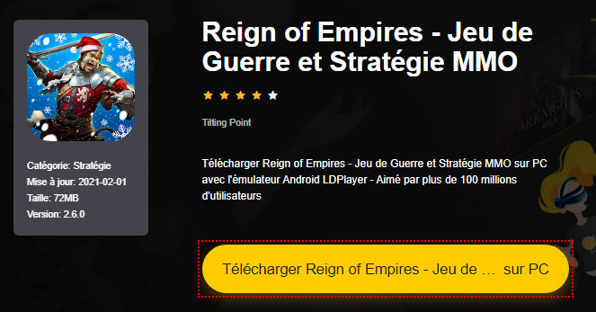 Installer Reign of Empires - Jeu de Guerre et Stratégie MMO sur PC