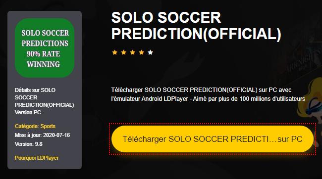 Installer SOLO SOCCER PREDICTION(OFFICIAL) sur PC