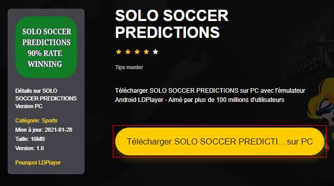 Installer SOLO SOCCER PREDICTIONS sur PC