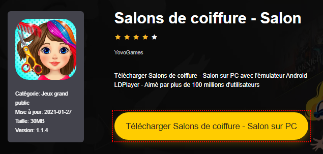 Installer Salons de coiffure - Salon sur PC