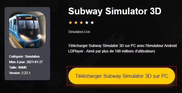 Installer Subway Simulator 3D sur PC