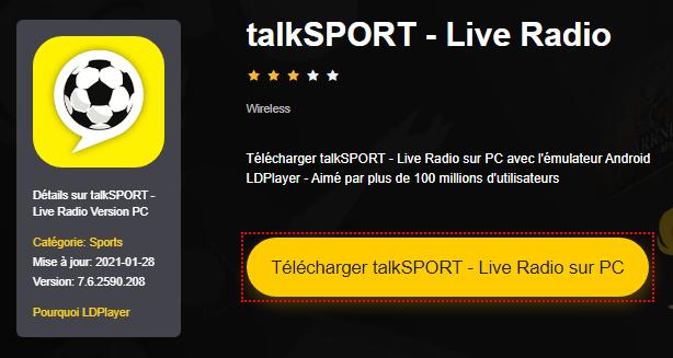 Installer talkSPORT - Live Radio sur PC