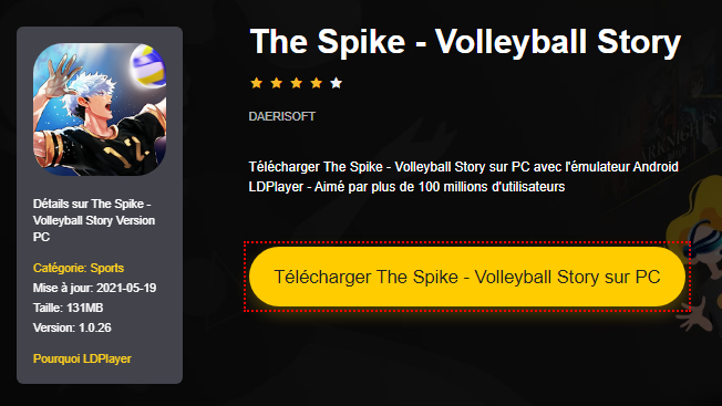 Installer The Spike - Volleyball Story sur PC