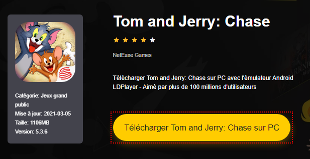 Installer Tom and Jerry: Chase sur PC