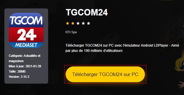 Installer TGCOM24 sur PC