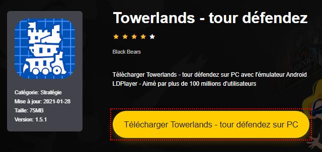 Installer Towerlands - tour défendez sur PC