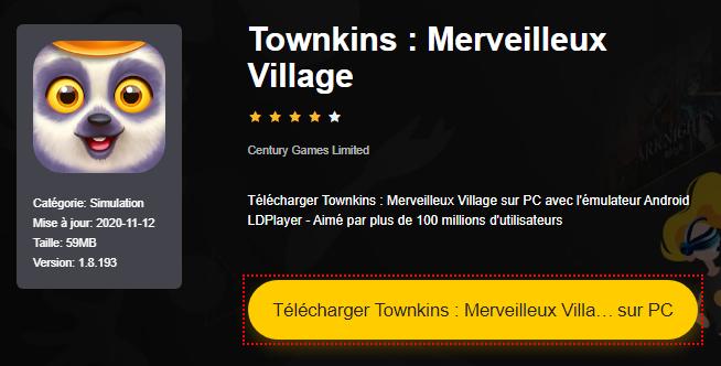 Installer Townkins : Merveilleux Village sur PC