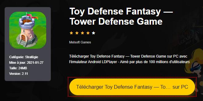 Installer Toy Defense Fantasy — Tower Defense Game sur PC