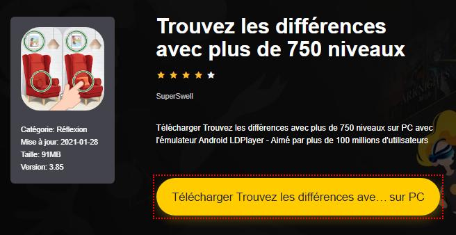Installer Trouvez les différences avec plus de 750 niveaux sur PC