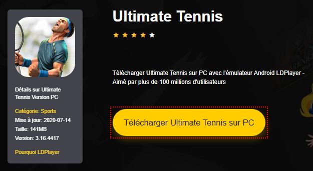 Installer Ultimate Tennis sur PC