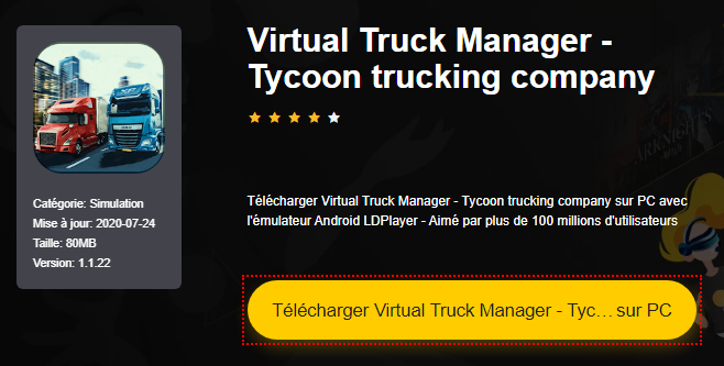 Installer Virtual Truck Manager - Tycoon trucking company sur PC