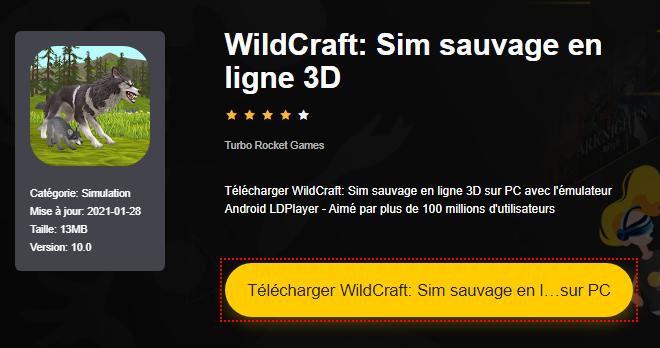 Installer WildCraft: Sim sauvage en ligne 3D sur PC