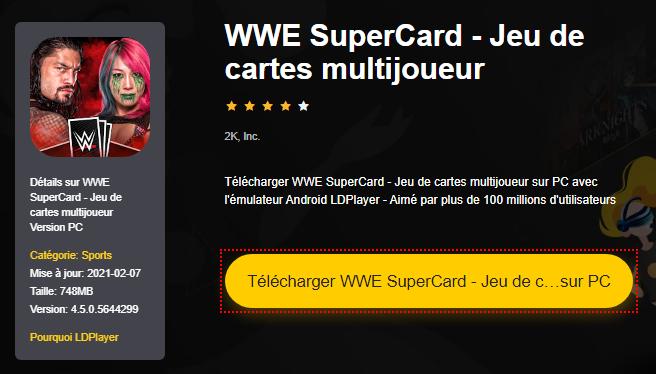Installer WWE SuperCard - Jeu de cartes multijoueur sur PC