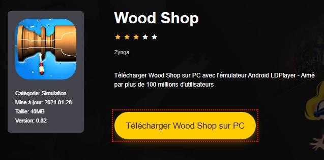 Installer Wood Shop sur PC