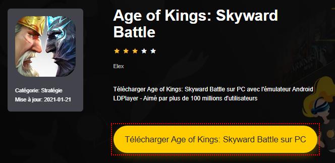 Installer Age of Kings: Skyward Battle sur PC