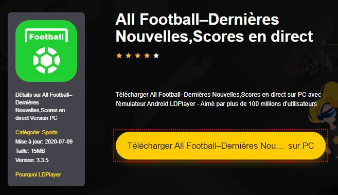 Installer All Football–Dernières Nouvelles,Scores en direct sur PC